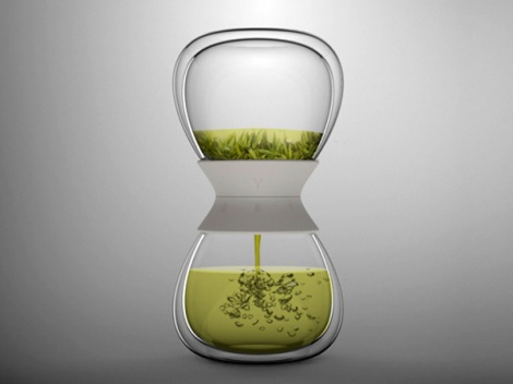 Hourglass Tea Maker by Pengtao Yu: