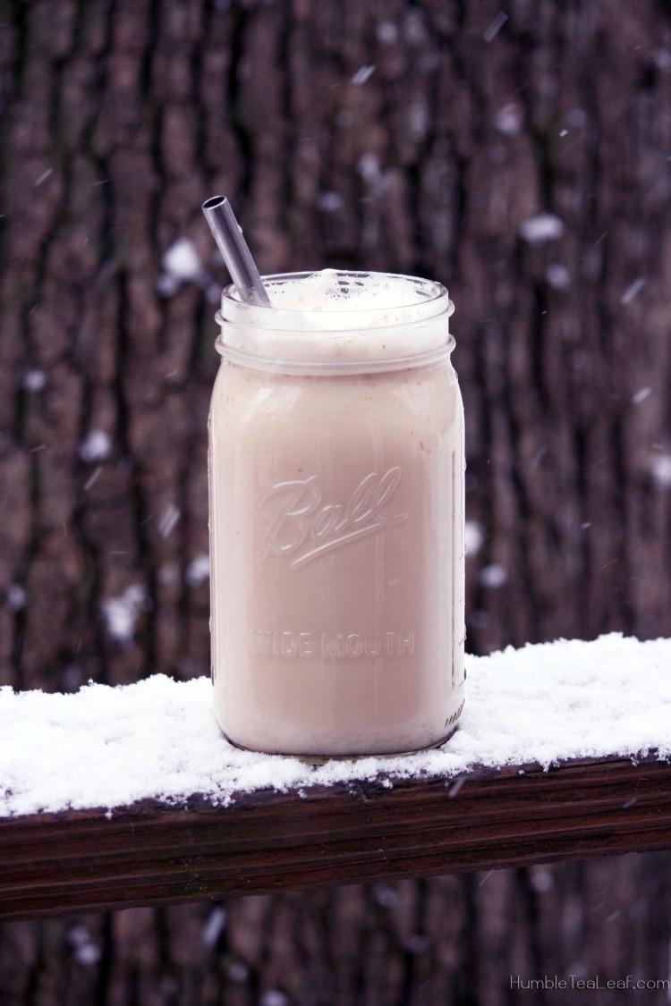 Ginger Milk Tea on a snowy day!