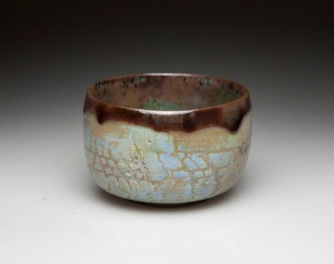 Raku Tea bowl, handmade.