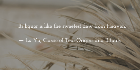 Lu Yu quote about Tea