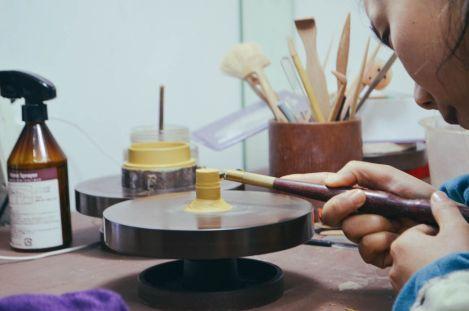Yixing Clay teapot maker. Yafang Jiang.